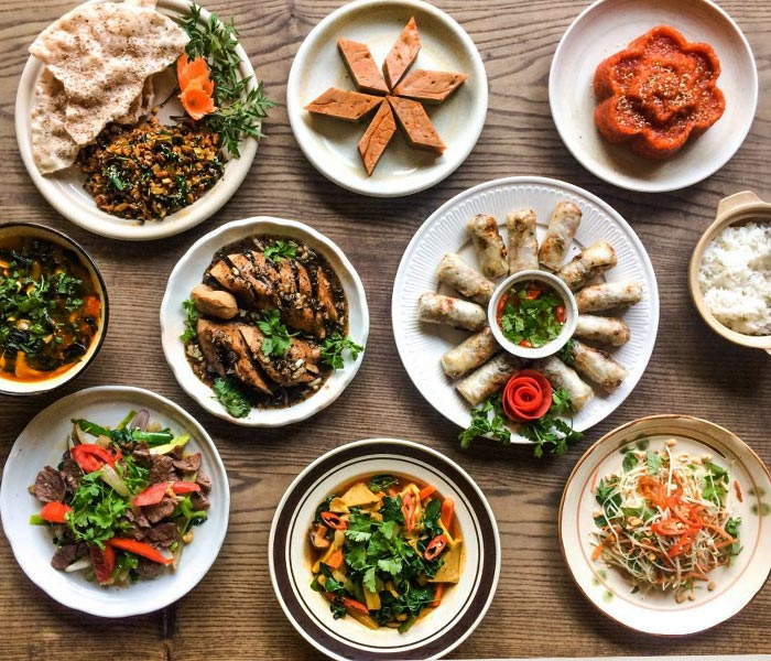 Bữa ăn chay bắt mắt, hấp dẫn người thưởng thức